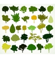 silhouettes trees set vector image