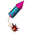 Single firework in rocket shape vector image