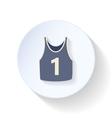 T-shirt flat icon vector image vector image
