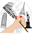 The designer of monuments vector image vector image