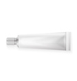 Tube Of Toothpaste Cream Or Gel Grayscale Silver vector image vector image