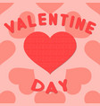valentines day background with heart pattern vector image vector image