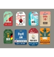 Vintage baggage or luggage paper tags set vector image