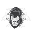 vintage t-shirt design with gorilla head vector image vector image