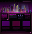 Web site design night city vector image