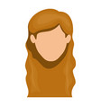white background of faceless woman with long wavy vector image vector image