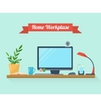 Workspace for freelancer and home work vector image vector image