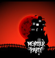 zombie party typography with creative design vector image