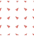 geometric minimalistic orange pizza piece vector image