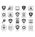 Business data security icons vector image