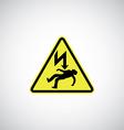 electrocution risk sign vector image