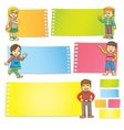 Funny cartoon character frame vector image