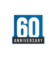 60th anniversary icon birthday logo vector image vector image