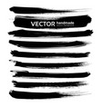 abstract black ink brush long strokes set isolated vector image