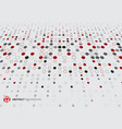 abstract halftone pattern dots red black and gray vector image vector image