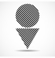 abstract triangle and circle lines geometric vector image vector image