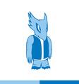 Alien monster humanoid creature Standing intruder vector image vector image