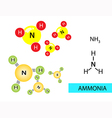 Ammonia vector image