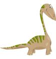 apatosaurus dinosaur cartoon vector image