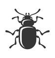 beetle insect icon on white background vector image vector image