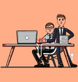 buisnessman and employee working vector image