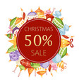 christmas balls sale 50 discount vector image