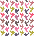 Colorful doves pattern vector image vector image