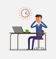 concept of deadline vector image