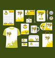 corporate identity items olive oil products vector image vector image