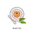 cup black tea icon in vector image vector image