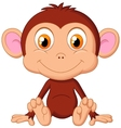 Cute baby monkey cartoon vector image vector image
