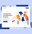 development and operations engineer isometric vector image vector image