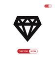 diamond icon vector image vector image