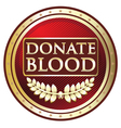 Donate Blood Red Label vector image