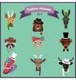 Fashion Hipster Animals set 4 vector image vector image
