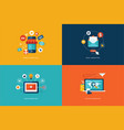 flat design concept icons for internet marketing vector image vector image