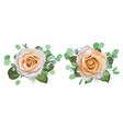 floral bouquet design garden creamy powder pale vector image vector image