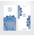 Flyers templates with watercolor flowers vector image vector image