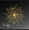 glowing explode of sparkling particles vector image vector image