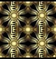 gold 3d modern 3d greek seamless pattern vector image vector image