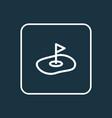 golf field icon line symbol premium quality vector image vector image