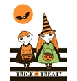 Halloween with kids vector image