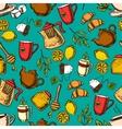 Herbal tea seamless pattern background vector image vector image