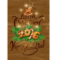 Holiday greeting Card with xmas gingerbread candy vector image vector image