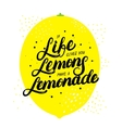 If life gives you lemons make lemonade hand vector image
