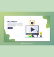 landing page template multimedia modern flat vector image vector image