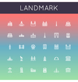landmark line icons vector image