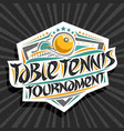 logo for table tennis tournament vector image vector image