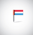 luxembourg flag pin vector image