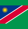 namibia flat flag vector image vector image
